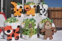 Mini Diaper Cakes Baby Shower Gift Centerpiece Boy Girl