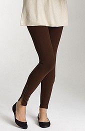 ponte knit zip-ankle leggings