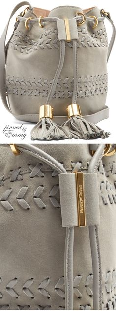♦just in ~ new bags 2017 Brilliant Luxury ♦Chloé Vicki small suede and leather bucket bag - My Accessories World Dior Purses, Purses And Handbags, Chloe, Sacs Design, Bags 2017, Shoe Boots, Shoe Bag, Estilo Fashion, Cute Bags