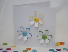 Button Flowers Card £2.95