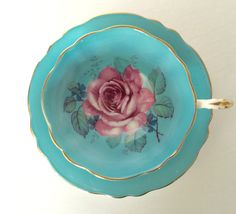 Stunning Aqua Paragon China Tea Cup & Saucer Teacup Set
