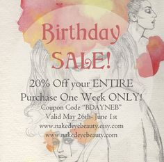 Birthday SALE! 20% Off THIS WEEK ONLY