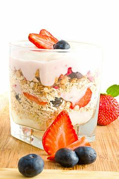 Yogurt is a creamy treat that won't derail your diet. For a sophisticated take on this bite, try layering yogurt with granola and berries for a summery parfait.