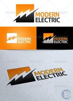 Modern Electric' Logo: Symbol Logo Design Template created by Logo Design Template, Print Templates, Typo Logo, Logo Branding, Electrical Company Logo, Electrician Logo, Trade Logo, Logos, Stationery Printing