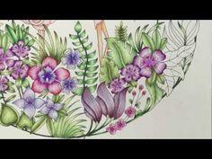 MAGICAL JUNGLE by Johanna Basford - prismacolor pencils - color tutorial part 2 - YouTube