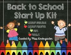 Back to School Start Up Kit {Ultimate Bundle} Everything you need to start up a new school year in one pack! Classroom organization, management, crafts and printables!