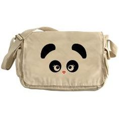 $31.89 - Love Panda® Messenger Bag! Hit the road with this raw-edged and dyed 100% cotton canvas messenger bag. Enzyme-washed for a cool retro look. Very cool, great for school! SHOP here: http://cutebrands.net/cute-shop-take-action/children-a-teens * a % of all annual revenues will be donated to select not-for-profit organizations that help protect & preserve endangered animals!