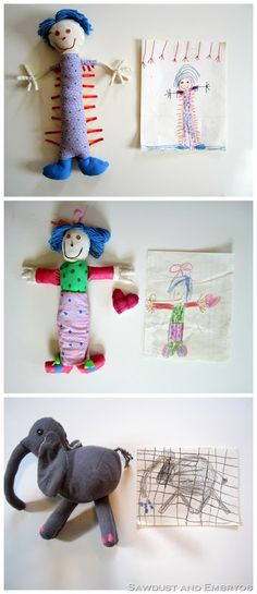 Softies from children's drawings