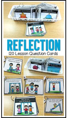 "Provide more opportunity for students to process new information and make personal connections in a short amount of time! Make evaluation & reflection component a favorite part of learning. This packet provides 120 themed high interest reflection questions to grab & use. Students will think critically and learn to self evaluate! Great for all grades. To learn more about ""3 Simply Ways to do a Lesson Reflection"", visit www.tunstallsteachingtidbits.com"