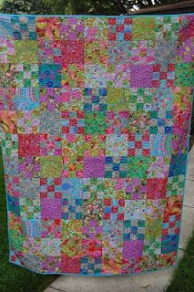 Sweet Cherry Blossom - six inch blocks - alternating with 9-patch squares
