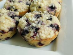 Blueberry lemon crumble muffins - Drizzle Me Skinny!Drizzle Me Skinny!