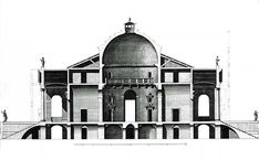 Andrea Palladio November 1508 – 19 August - Villa Rotonda - Layout Palladio, it is easy to argue, is the most important and influential architect of all time. Architecture Drawings, Classical Architecture, Architecture Plan, Architecture Details, Interior Architecture, Andrea Palladio, Gothic Drawings, Architecture Classique, Architectural Section