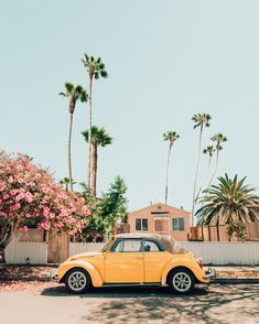 yellow aesthetic vintage Yellow VW bug in Oceanside, California. Yellow Aesthetic Pastel, Aesthetic Pastel Wallpaper, Aesthetic Backgrounds, Aesthetic Wallpapers, Collage Mural, Bedroom Wall Collage, Photo Wall Collage, Wall Art, Beach Aesthetic