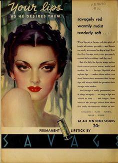 Die besten 25 Vintage makeup ads Ideen auf Pinterest