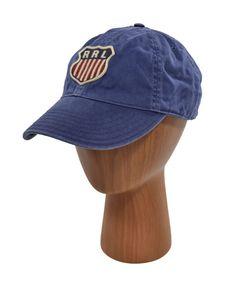d168a661779 Ralph Lauren RRL Vintage Blue Cotton Baseball Truckers Hat Cap New (eBay  Link)
