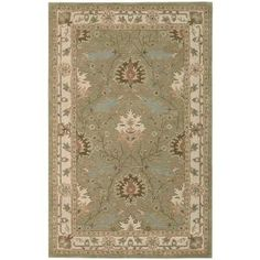 Nourison Earth Treasures Sage 5 ft. x 8 ft. Area Rug - 002082 at The Home Depot