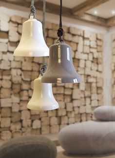 Contardi Belle - Small white and mud coloured lights - Designed by Staffan Tollgard