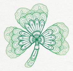 """Urban Threads has posted this free embroidery design for you to download. It's the """"Mendhika Shamrock"""". So great for St. Patrick's Day."""