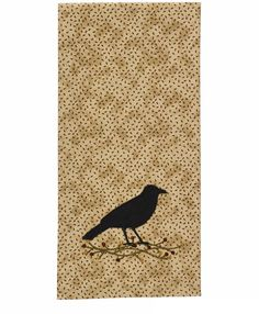 Crow Applique Kitchen Hand Towel Dishtowel