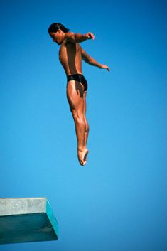 Greg Louganis he was meant to dive, such beauty in motion