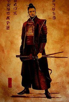 just a samurai. one of the signs actually signifies 'samurai' Samurai Geisha, Ronin Samurai, Samurai Warrior, Japanese Culture, Japanese Art, Art Chinois, Samurai Artwork, Miyamoto Musashi, Japanese Warrior