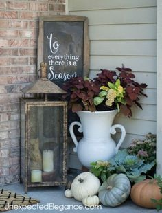 fall home decor Get a peek into my home decorated for fall! Get some inspiration and ideas for inexpensive fall decor. Rustic Fall Decor, Fall Home Decor, Autumn Home, Diy Home Decor, Blue Fall Decor, Thanksgiving Decorations, Seasonal Decor, Holiday Decor, Christmas Decorations