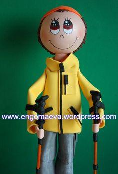 Doll Mountaineer. Is Funny!! Present Birthday    ---   Muñeco Montañero. Divertido!!  Regalo de cumpleaños