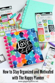 A new year means a fresh start to get organized and set goals. Learn how to stay organized and motivated with The Happy Planner and all the fun colorful accessories you can find at @michaelsstores