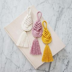 Macrame pipa knot macrame tassel macrame wall hanging modern macrame boho home decor pipa knot macrame wall art macrame knot This macrame pipa knot wall hanging features cotton rope in natural, primrose pink and mustard. Macrame Art, Macrame Projects, Macrame Knots, Macrame Modern, Diy Projects, Macrame Patterns, Crochet Earrings, Diy Rope Earrings, Tassel Necklace