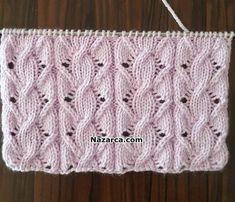 Screw Valley knitting pattern yapilisi - Diy And Craft Lace Knitting Patterns, Knitting Stiches, Easy Knitting, Knitting Designs, Knitting Projects, Crochet Stitches, Stitch Patterns, Knit Vest Pattern, Knitting Squares