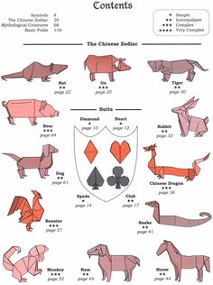 Mythological Creatures and the Chineses Zodia Origami.