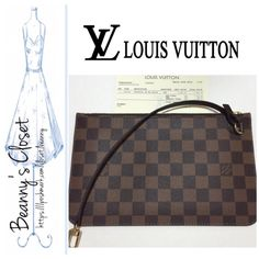 83d60a3d8dc Authentic Louis Vuitton Pochette Wristlet This is new and never use. I only  want the Neverfull that goes with it. Date code Serious buyer only.