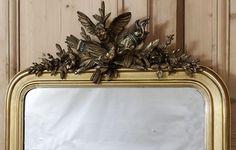 Antique Louis XVI Giltwood Mirror, #antique