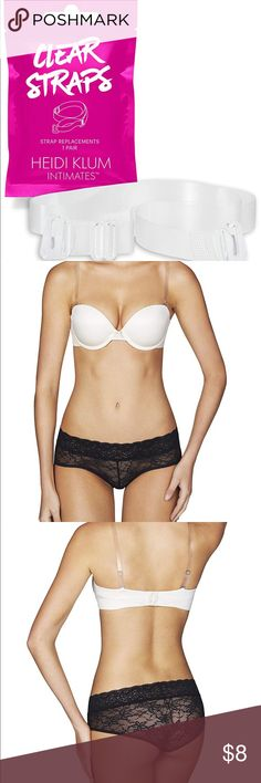 5bfe95cce06ee Heidi Klum clear bra straps Heidi Klum Intimates Clear Bra Straps are the  ultimate no show
