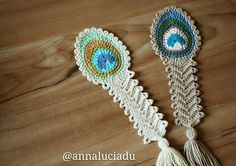 Looking for your next project? You're going to love Crochet peacock feather by designer Emma Du.