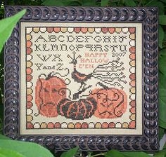Grim Gourds - Cross Stitch Pattern by Plum Street Samplers
