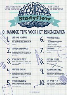 10 tips voor het rekenexamen op een gratis poster!