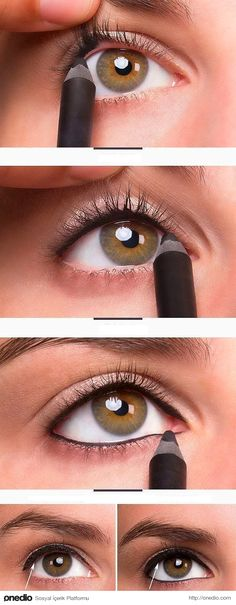 how to apply liquid eyeliner step by step.how to apply liquid eyeliner step by step pictures.how to apply liquid eyeliner to upper lid.how to apply eyeliner step by step with pictures.how to appl Eyeliner Hacks, Khol Eyeliner, Eyeliner Makeup, Eyeliner Pencil, Black Eyeliner, Makeup Younique, Eyeliner Ideas, Face Makeup, Makeup Stuff
