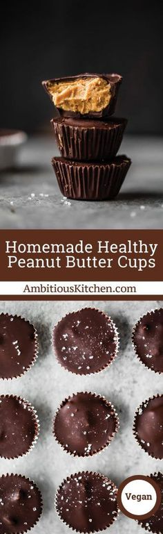 Homemade healthy peanut butter cups that are easy to make right at home! Low carb, low sugar, vegan and gluten-free. Keep these in the fridge or freezer when you need a healthy treat. #chocolate #lowcarb #veganrecipes #dessertrecipes #glutenfreerecipes