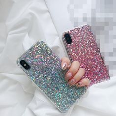 Bling glitter full sparkle protective cute slim fit phone case cover for ip Sparkly Phone Cases, Glitter Iphone 6 Case, Cute Phone Cases, Iphone 6 Plus Case, Iphone Phone Cases, Iphone 8, Phone Covers, 6s Plus, Sparkle