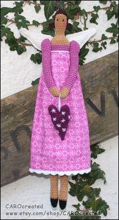 Amigurumi ANGEL crochet pattern by CAROcreated on Etsy, by mattie - Amigurumi Doll, Amigurumi Patterns, Crochet Patterns, Crochet Chart, Knit Or Crochet, Knitted Dolls, Crochet Dolls, Crochet Angels, Beautiful Crochet