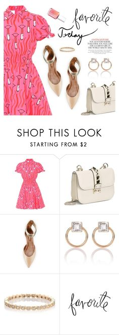"""Favorite Today"" by dressedbyrose ❤ liked on Polyvore featuring Valentino, Aquazzura, Loren Stewart, Heidi Swapp, Kate Spade, Essie, ootd and polyvoreeditorial"