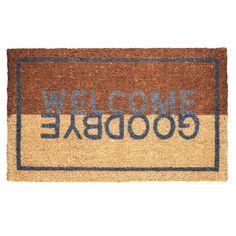 Fußmatte Welcome / Goodbye 74 x 44 aus Kokos