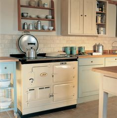 For new kitchen, Aga Classic 2 oven in cream to go with Creamery radiator.
