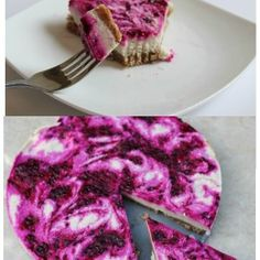 Homemade raw pitaya cheesecake