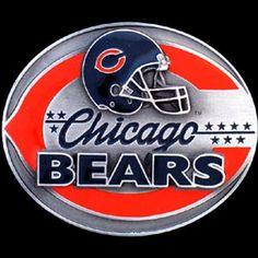 Chicago Bears NFL Enameled Belt Buckle