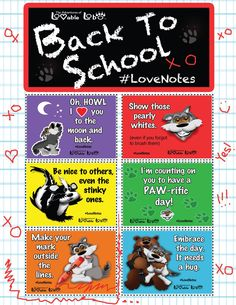 Back to school love note printables to spread positivity | via Lovable Lobo