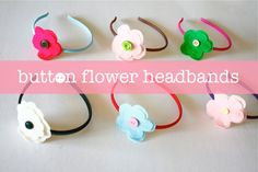 button flower headband tute