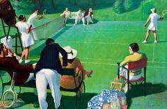 percy shakespeare http://theibtaurisblog.com/2012/06/28/court-on-canvas-tennis-in-art/