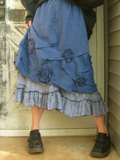 Mini Scrunches And Flowers Skirt by sarahclemensclothing on Etsy, $99.00